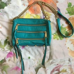 Rebecca Minkoff Turquoise Mini Zip Crossbody